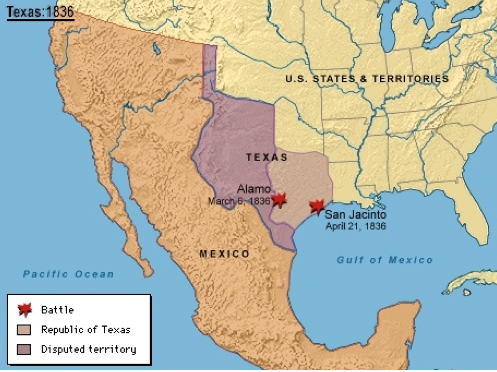 Where Is The Alamo Located On A Map