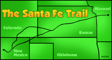 Santa Fe Trail for Kids and Teachers Illustration