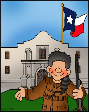 The Alamo and Texas Independence from Mexico for Kids Illustration